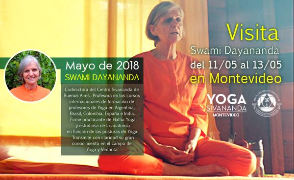 Visita de Swami Dayananda - Vedanta y Hatha Yoga en Profundidad