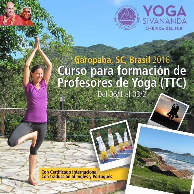Yoga Sivananda - TTC Garopaba 2016 - Curso para formación de profesores