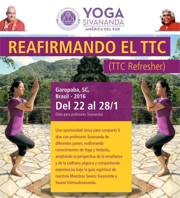 Reafirmando el TTC - Yoga Sivananda - Garopaba 2016 dcae993ebcde