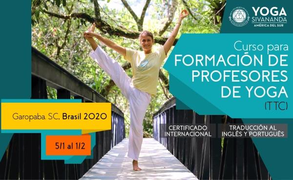 Yoga Sivananda - TTC Garopaba 2020 - Curso para formación de profesores